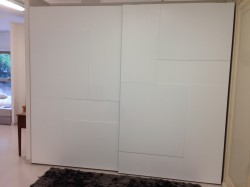Sliding white wardrobe OPERA