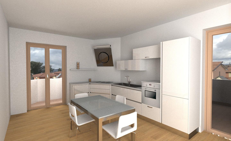 Progetto cucina angolo inclinato gallery lombardelli - Progetto cucina angolare ...