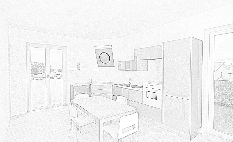 Progetto cucina angolo inclinato - Gallery - Lombardelli Arredamenti